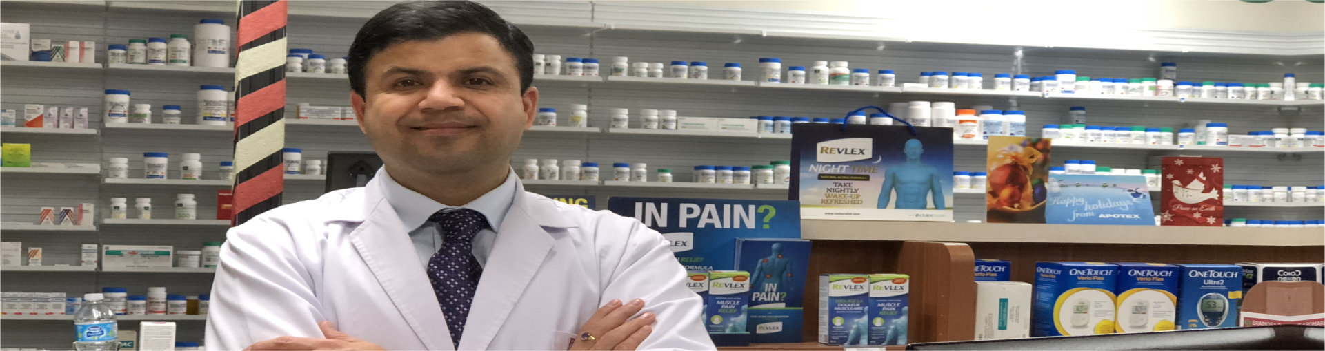 Pharmacist standing in the pharmacy